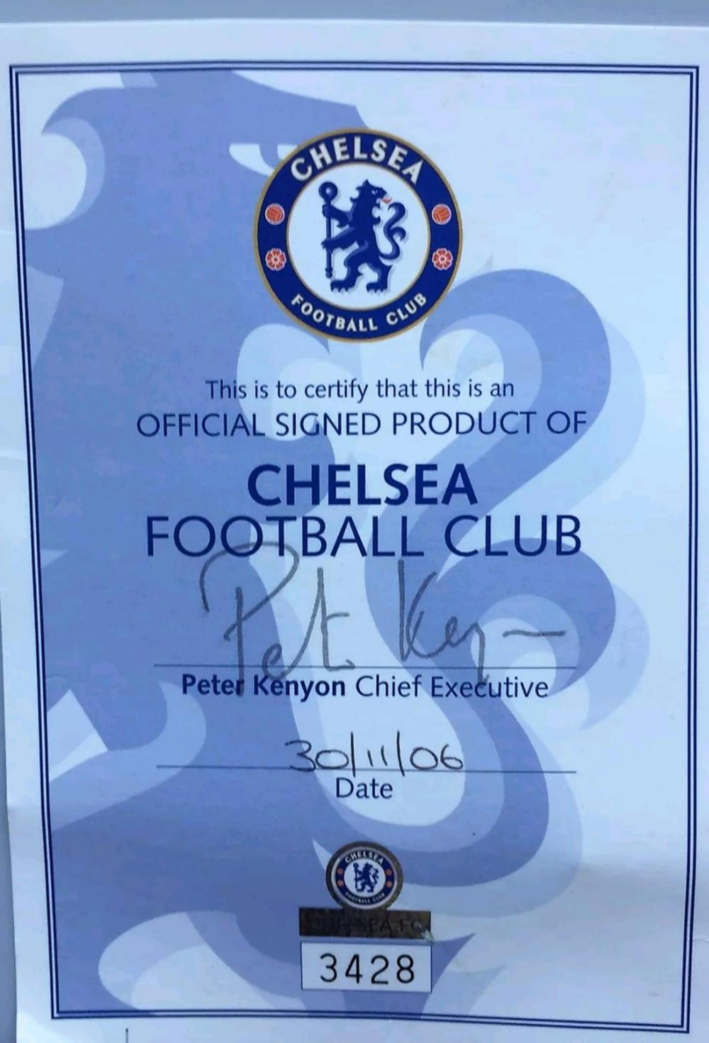 Lot 93 - Signed Chelsea Club Issue Football signed by the Team