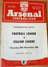 Lot 401: 1962 Arsenal Football Programme