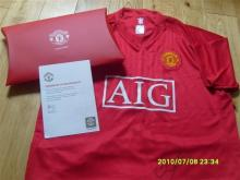 Manchester United Football Shirt from the Club Signed by Johnny Evans.