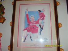 Limited Edition Football Print Signed and Framed by Eric Cantona