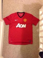 Signed Manchester United Football Shirt - LEGEND Paul Scholes