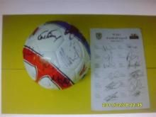 Signed Wales Football Team direct from the Welsh FA.