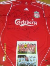 Signed Liverpool Football Shirt, signed by some of the Legends of the past.