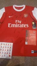 Arsenal Signed Football Shirt 2011/12 squad {signed by 20 top players) direct from the club.
