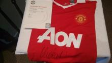 Signed Manchester United Football Shirt, by Vidic