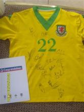 Wales Football Shirt - Signed by the 2008 Football Team