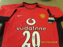 Signed Manchester United Shirt - Olle Gunnar Solsjkaer