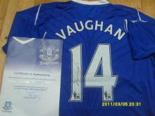 Signed Everton Football Shirt from the Club