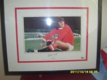 George Best Signed Football Picture