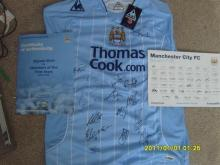 Manchester City Signed Football Shirt by First Team 2009 / 2010