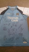 Signed Manchester City Team Football Shirt