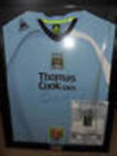 Signed Manchester City Football Shirt by Stephen Ireland