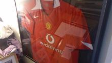 Signed and Framed Manchester United Football Shirt