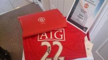 2008/2009 Manchester United Home Shirt Signed by John O'Shea.