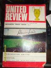 Denis Law signed football Programme