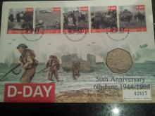 Lot 388 - D-Day Celebration FDC with coin included