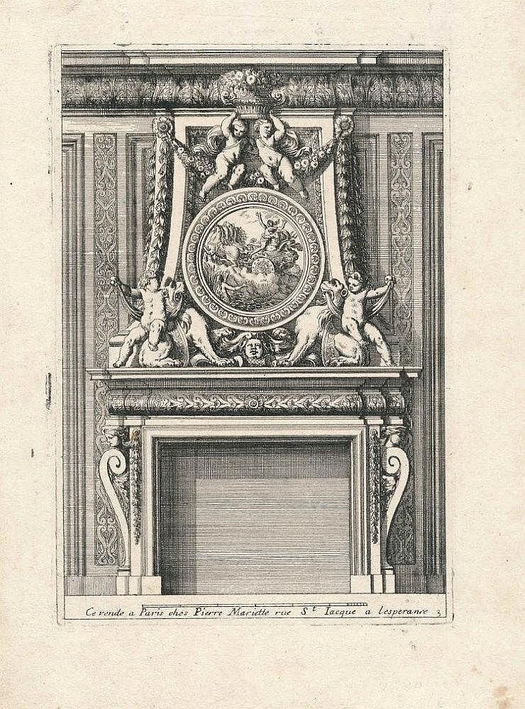 (17th Century - Ornaments) Jean LE PAUTRE Cheminées à l'Italienne nouvellement inventées et gravées.