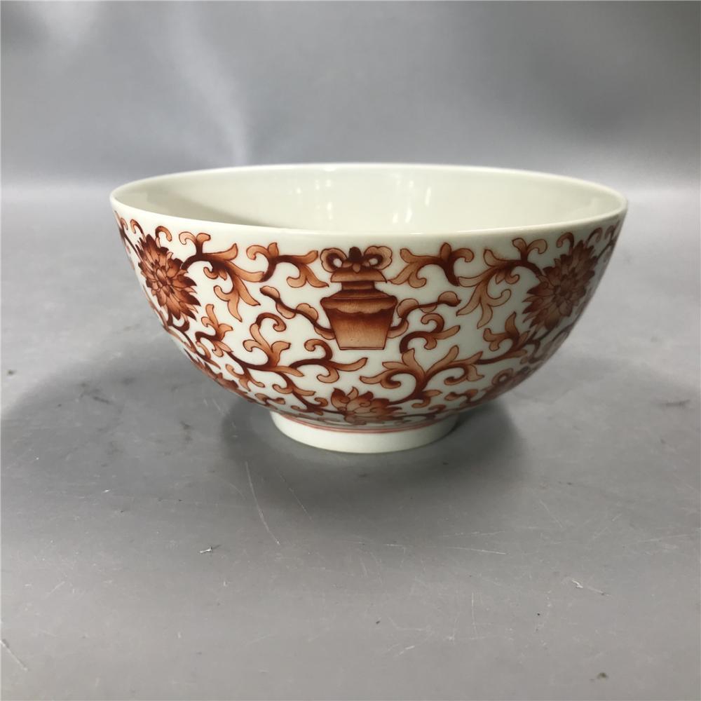 Qing Guangxu Guan Kiln Alum Red Bowl