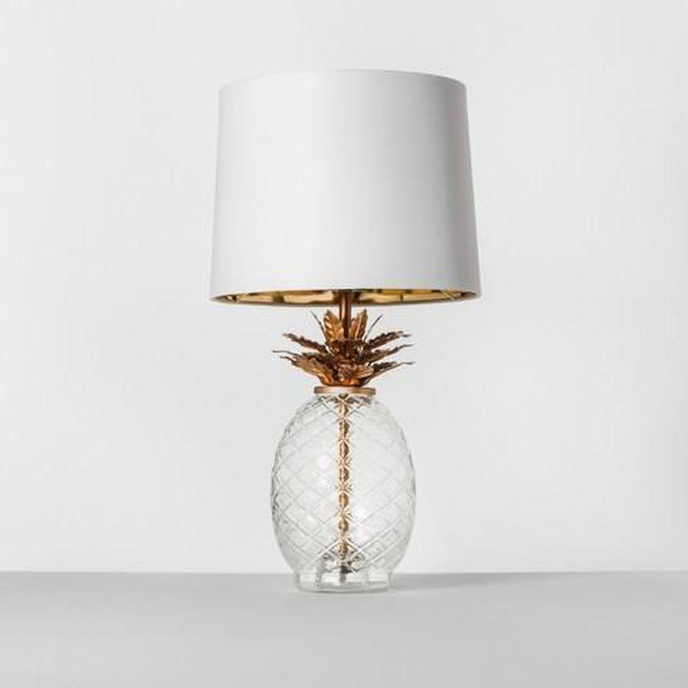 Glass Pineapple Table Lamp Brass - Opalhouse