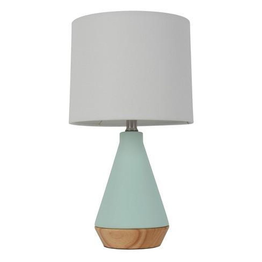 Modern Tapered Ceramic Table Lamp Mint