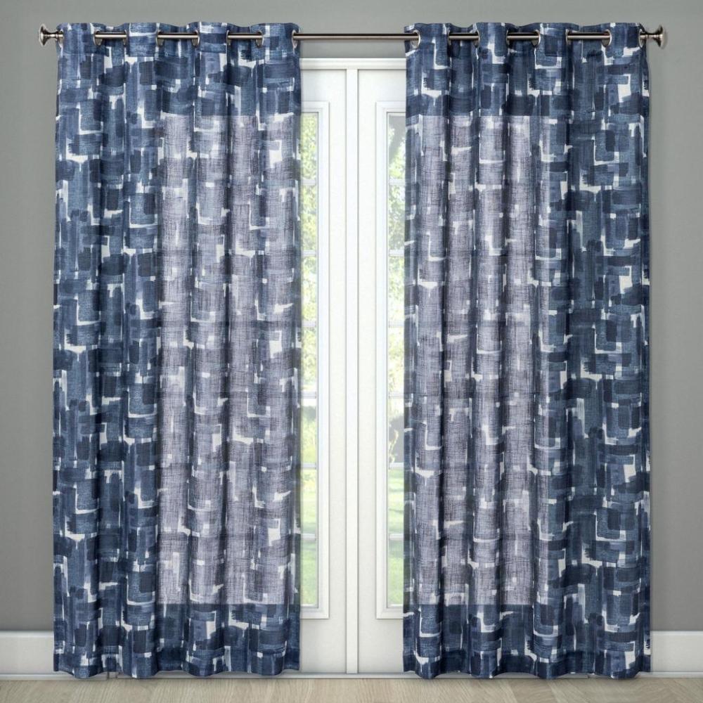Brush Stroke Curtain Panels