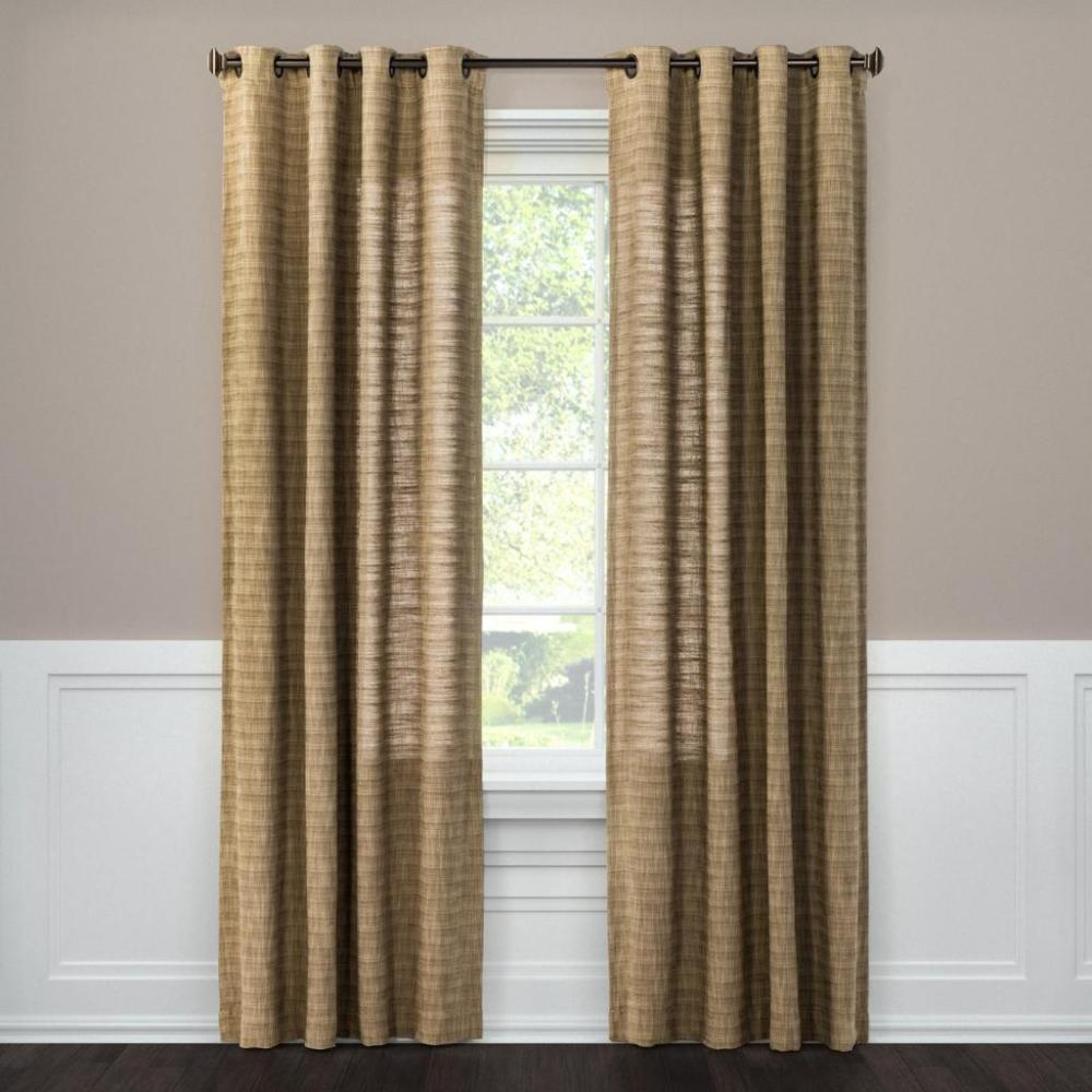 Textured Weave Window Curtain Panel - Threshold