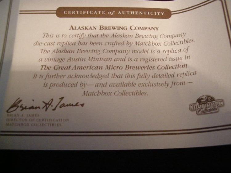 ~ Certificate NiCe! Austin Mini Van Pacific Coast Brewing Co