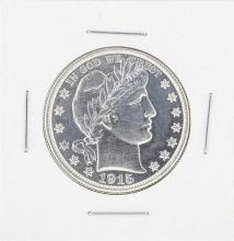 1915-D Barber Half Dollar Coin