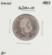 1883 Kingdom of Hawaii Quarter Coin