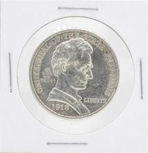 1918 Lincoln Illinois Centennial Commemorative Half Dollar Coin