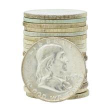 Roll of (20) 1959-D Brilliant Uncirculated Franklin Half Dollar Coins