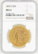 1895-S $20 Liberty Head Double Eagle Gold Coin NGC MS61