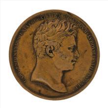 1820 France Medal Commemorating The Death of Duke Charles Ferdinand