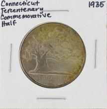 1935 Connecticut Tercentenary Commemorative Half Dollar Coin