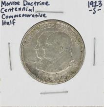 1923-S Monroe Doctrine Centennial Commemorative Half Dollar Coin