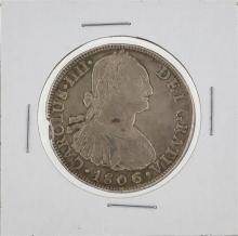 1806 Peru Lima 8 Reales Silver Coin