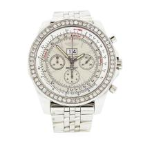 Breitling Bentley Stainless Steel and Diamond Wristwatch