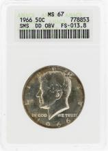 1966 Double Die Kennedy Half Dollar Coin ANACS MS67