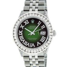 Rolex Mens Stainless Steel 3.50ctw Diamond Datejust Wristwatch