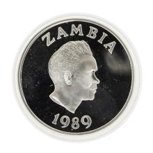 1989 Zambia 10 Kwacha Save the Child Silver Proof Coin