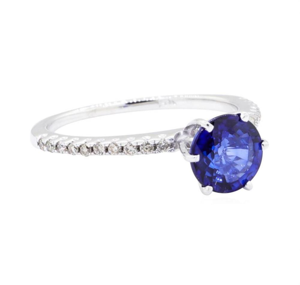14KT White Gold 1.43 ctw Sapphire and Diamond Ring