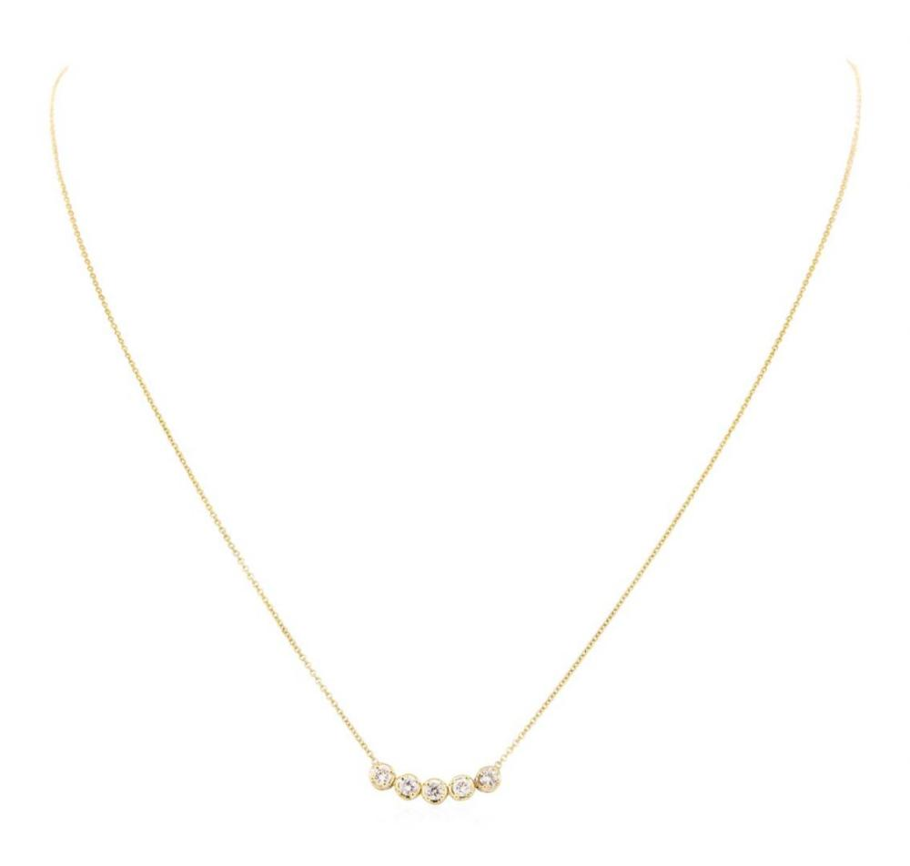 14KT Yellow Gold 0.40 ctw Diamond Necklace