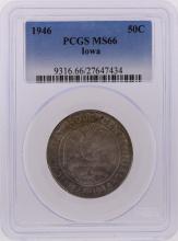 1946 Half Dollar Iowa Centennial Commemorative Coin PCGS Graded MS66