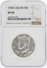 1998-S Kennedy Half Dollar Proof Silver Coin NGC SP69