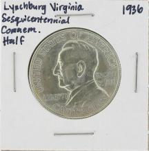 1936 Lynchburg Virginia Sesquicentennial Commemorative Half Dollar Coin