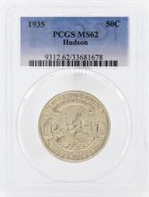 1935 Hudson Commemorative Half Dollar Coin PCGS MS62