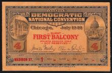 July 1940 Democratic National Convention Chicago Ticket