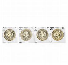 Set of (4) 1968 Mo Mexico 25 Pesos Silver Coins