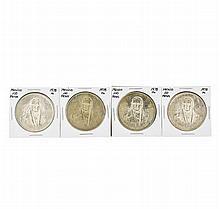 Set of (4) 1978 Mo Mexico 100 Pesos Silver Coins