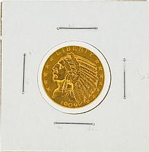 1909-D $5 Indian Head Gold Coin XF